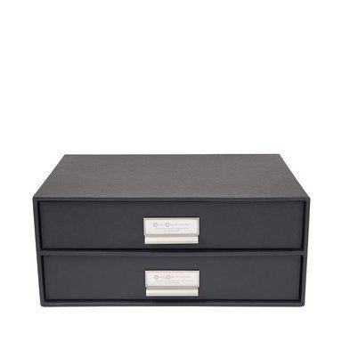 Byrå med två lådor Birger, Dark Grey
