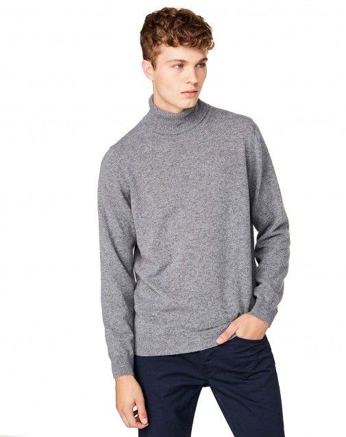 Купить Водолазка из мериносовой шерсти серый для ТРИКОТАЖ в официальном интернет-магазине United Colors of Benetton.