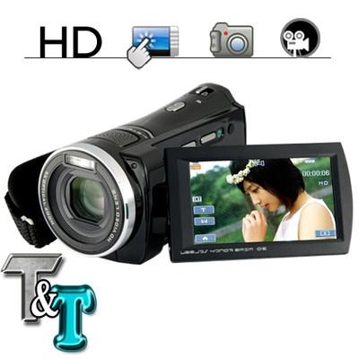 Videocamera con touchscreen e zoom ottico 5x 1080P HD