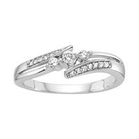 10K white gold & diamond Promise ring. Sometimes I think Promise rings are the most important rings a man can give a woman... I guess it all depends on the promise he's making and whether or not he keeps it.