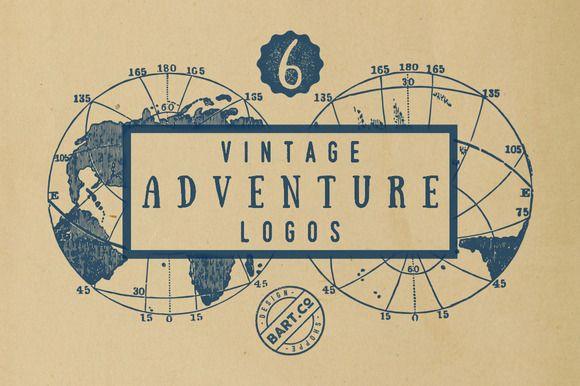 6 Vintage Adventure Logo by BART.Co Design on @creativemarket