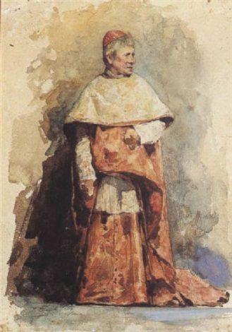 Un Cardenal de la Curia Romana by FranciscoPradilla y Ortiz