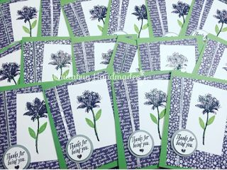 Quitabug Handmades: Stampin' Up! Sale-A-Bration- Avant Garden| December 2016 Customer Thank You Cards