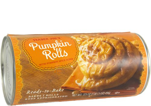 Trader Joe's | Pumpkin Rolls with Pumpkin Spice Icing | 17.5oz $3.99 #traderjoes #pumpkin #pumpkinrolls