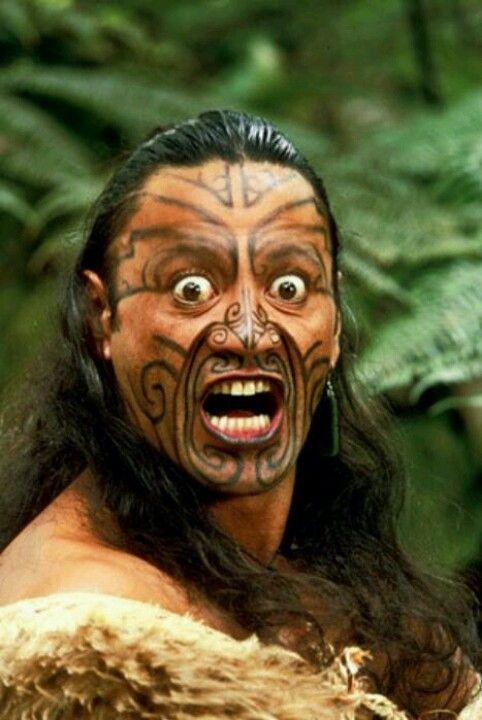 Hombre maori.nueva zelanda