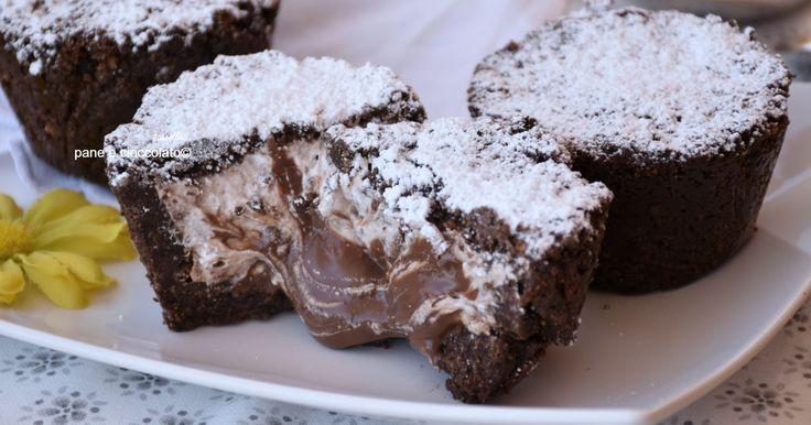 Tortine+fredde+senza+cottura+al+cuore+di+nutella