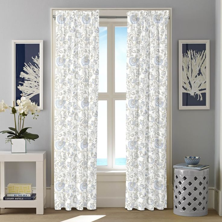 Nautica Crosslake Cotton Twill Curtain Panel Set