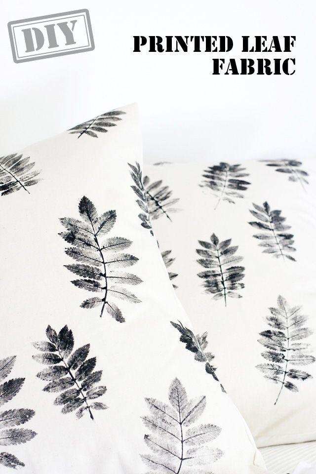 DIY Printed Leaf Christmas Fabric – Top Easy Interior & Fashion Design Decor P…