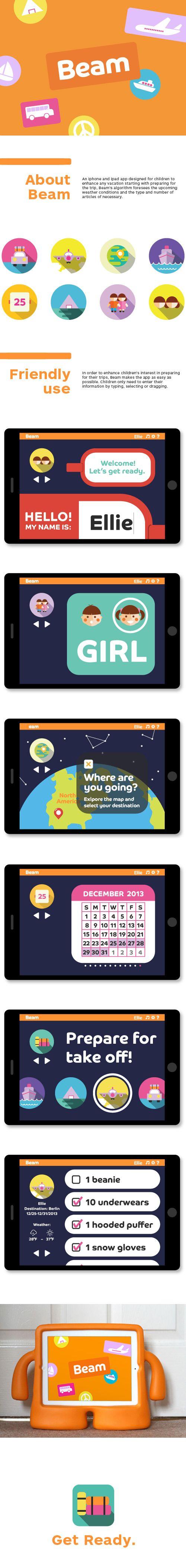 Beam app by Stephy So, via Behance