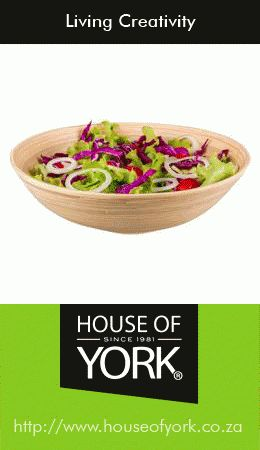 Buy yourself a lovely House of York tapered bamboo bowl online here for only R129.95: http://www.houseofyork.co.za/product/tapered-bowl Perfect for yummy spring and summer salads! #kitchenware #bamboo