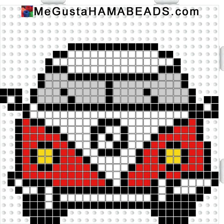 megustahamabeads furgo roja y blanca