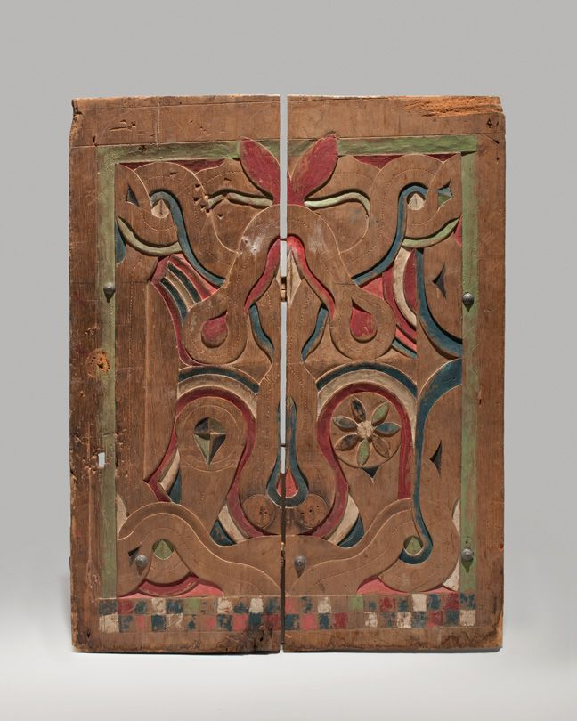 The decoration of houses in communities in what is today the country of Suriname, located in northeastern South America, seems to have begun in the second half of the nineteenth century. Carving, painting, and wood inlay were employed in a great variety of decorative techniques. Painted doors were most fully developed in the eastern region, and openwork or bas-relief carving was exploited in communities in the central region.  -