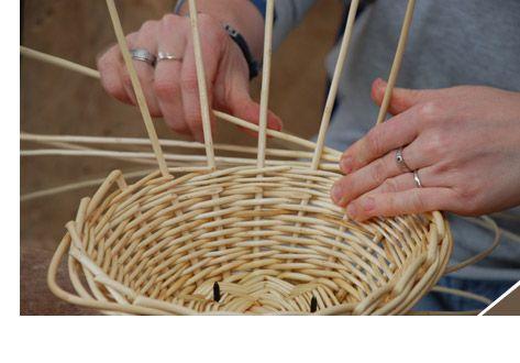 Fabrication d'un panier en osier