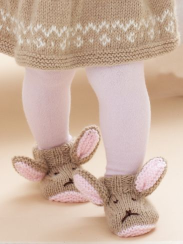 Free knitting pattern for babies: Hop To It Booties