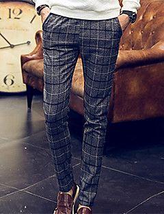 Pantaloni+della+tuta+Uomo+Casual+/+Taglie+forti+Scozzese+e+a...+–+EUR+€+33.31