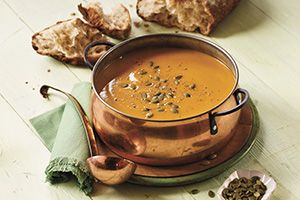 Squash and Apple Soup with Maple