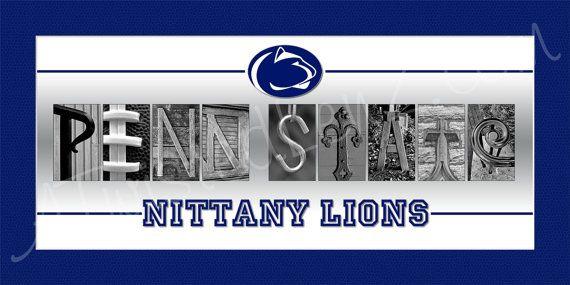 Penn State Nittany Lions Alphabetography by AlphabetphotosbyMP, $30.00