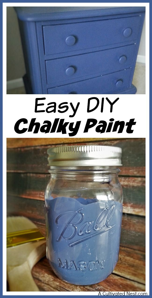 how to make chalk paint look rustic