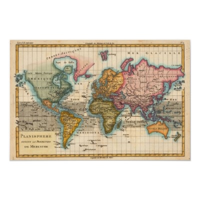 32 best world maps images on pinterest old maps world maps and vintage world map poster gumiabroncs Choice Image
