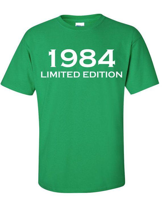 1984 Limited Edition 30th Birthday Party Shirt T-Shirt Tee Shirt T Shirt Mens Ladies Womens Funny Modern  Tee  B-184 on Etsy, $14.76