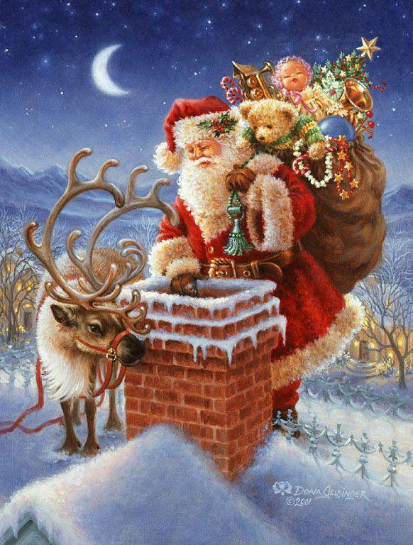 Porque sí,porque estas fechas son especiales...porque me encanta todo lo navideño,por eso os comparto un par de estampas santaclausianas,jej...