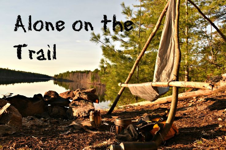 Solo Bushcraft Backpacking Camp.