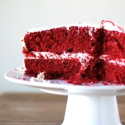 This is the best homemade red velvet cake I've ever had