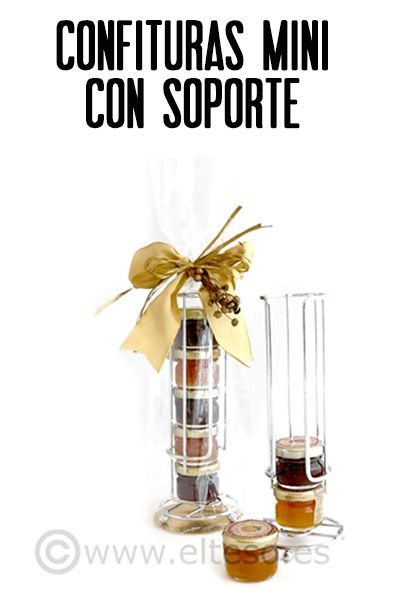 CONFITURAS MINI CON SOPORTE (selection of mini jams with stand) #RegalosParaGourmets