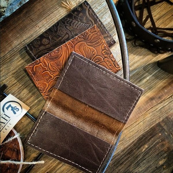 - Leather card holder - The options are endless with this great piece: business…