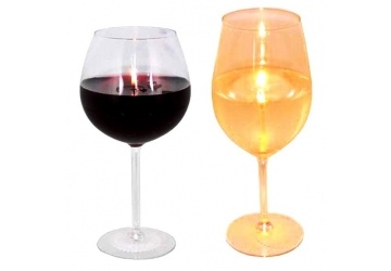 Wine Glass Gel Candles