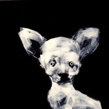 "Saatchi Online Artist Oscar Sancho Nin; Painting, ""m-34 (chihuahua)"" #art"