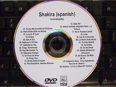 SHAKIRA (SPANISH) MUSIC VIDEO DVD LA LA LA WAKA WAKA GITANA LOBA SUERTE LOCA
