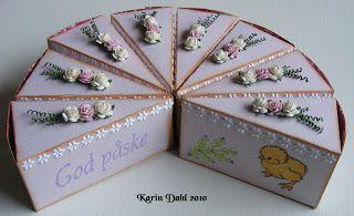 Karins-kortemakeri: Kakestykke til påske