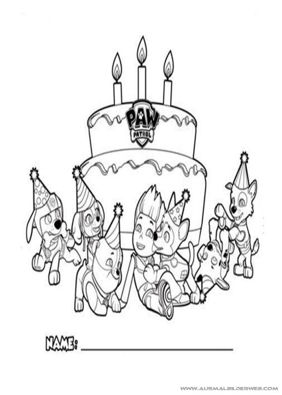 13 best Ausmalbilder Geburtstag images on Pinterest   Geburtstage ...