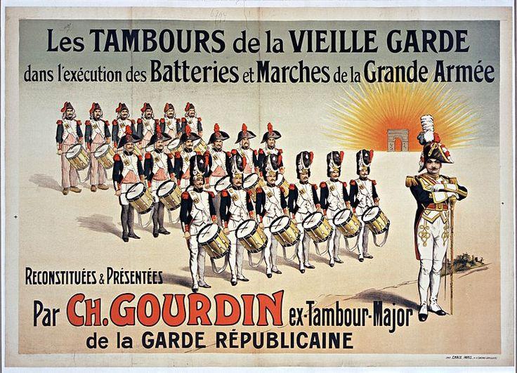 Tambours de la Vieille Garde Ch.Gourdin Tambour major 1910 Gallica BNF - Jean Nicolas Sénot
