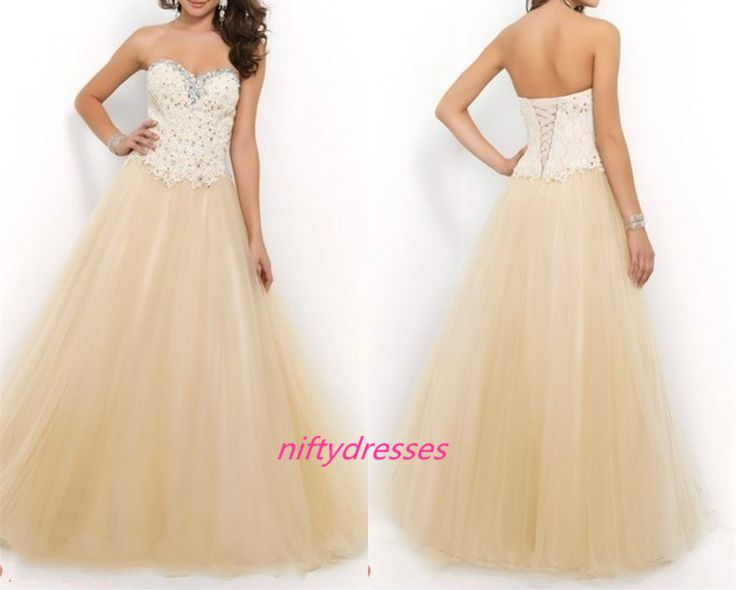 Champagne Long Fitted Lace Elegant Formal Evening Dresses Prom Gowns Prom Dresses