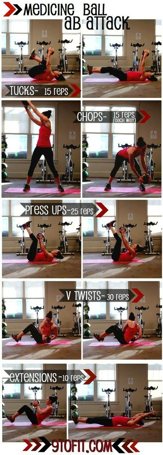 This workout is from 9toFit .com , so if     you want to check out the real workout head there everyone !