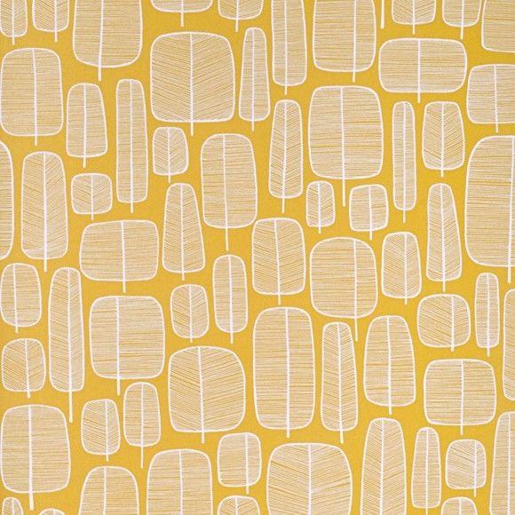 Papier peint Yellow, collection Little Trees de MissPrint.