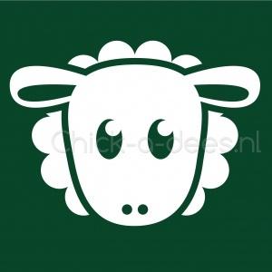 #Ontwerp #illustratie Designbyelja Donkergroene overall met schaap bedrukking | Chick-a-dees.nl.