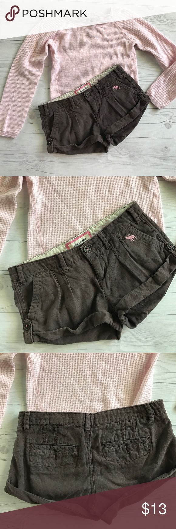Abercrombie & Fitch shorts Brown soft shorts by Abercrombie & Fitch. Size 10. Excellent condition no rips or stains. I have lots of children's clothing check out my closet! Abercrombie & Fitch Bottoms Shorts