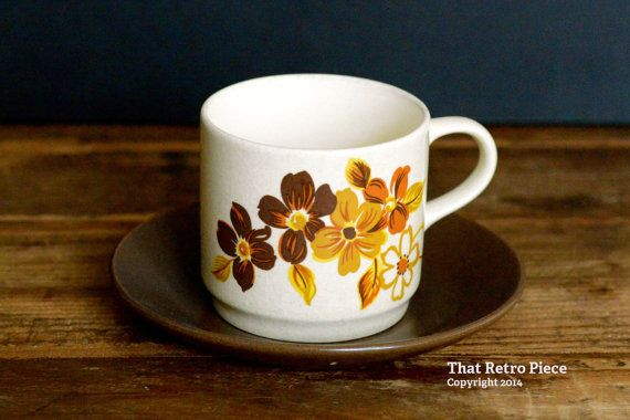 Johnson of Australia 'Brazilia' teacup/saucer by ThatRetroPiece, $5.00