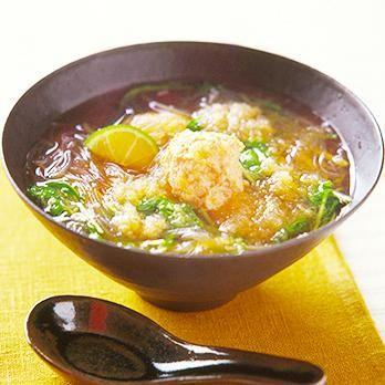 レタスクラブの簡単料理レシピ 体の温まるやさしい味の和風おかずスープ「とりつくねのみぞれスープ」のレシピです。