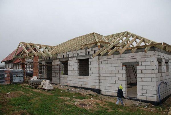 Projekt domu Czaruś Więźba dachowa #dach #projekt #dom
