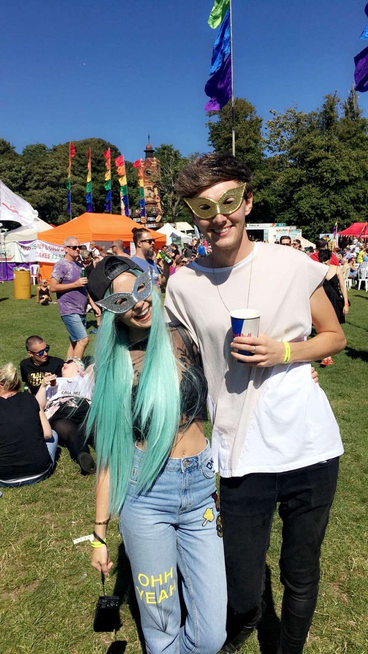 Zoe Sugg & Mark Ferris at Brighton pride 2016