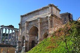 Foro Romano, Roma, Columnas, Italia