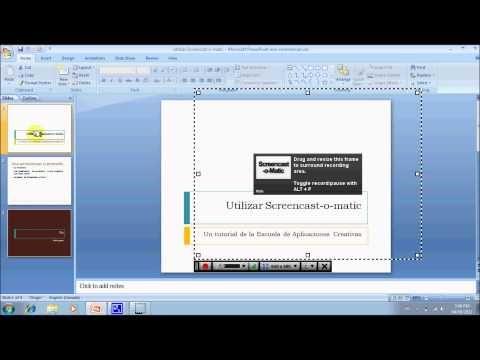 Cómo hacer una presentación narrada utilizando Screencast-o-Matic y PowerPoint - YouTube