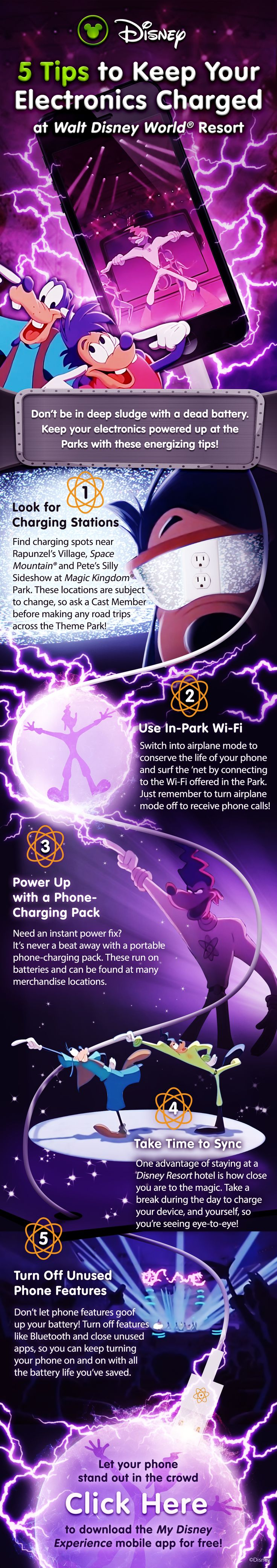 5 tips to keep your electronics charged during your Walt Disney World vacation!