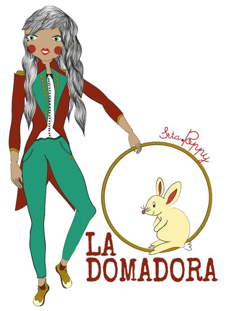 Ilustraciones de personajes del circo de Srta.Poppy, realizas de forma digital y mixtas, mezclando los acrílicos con lo digital.