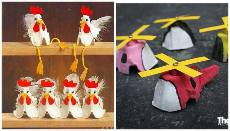 Con los envases de cartón de los huevos podemos hacer muchísimas manualidades. ¡Mirad qué ideas tan chulas para los peques!