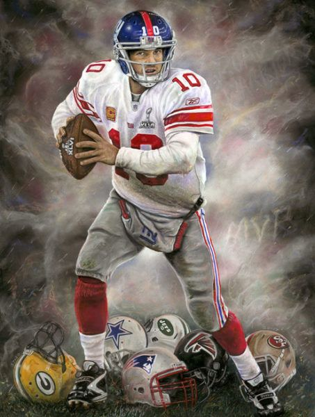 Eli Manning, A Run to Remember, Limited Edition Print | Andrew Goralski - Official Website